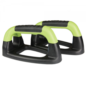Fitness-Mad Angled Push Up Stands (Pair) – Black/Green