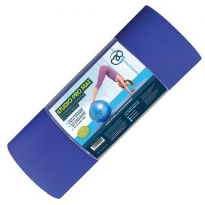 Fitness-Mad Studio Pro Pilates Mat – Blue – 15mm