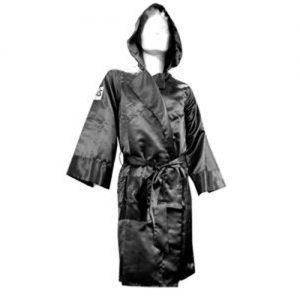 Cleto Reyes Satin Boxing Robe with Hood – Black