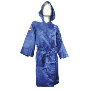 Cleto Reyes Satin Boxing Robe with Hood – Blue