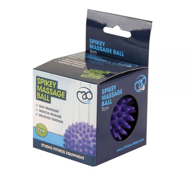 Fitness Mad Spikey Massage Ball – 7cm Purple or 9cm Blue