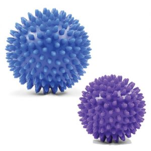 Fitness Mad Spikey Massage Ball – 7cm Purple or 9cm Blue