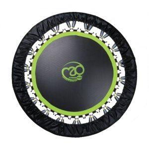 "Fitness-Mad's Studio Pro Rebounder 40"" Trampoline – Black/Green"