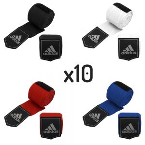 adidas Boxing Hand Wraps 2.5m x 10 [Black, Red, Blue or White]