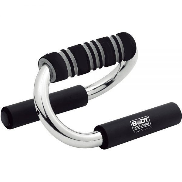 Body Sculpture Push Up Bars – Black/Silver