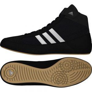 Adidas Junior Havoc K-Lace Wrestling Shoe – Black/White