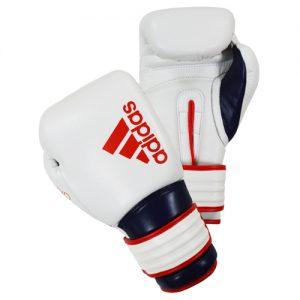Adidas Hybrid 300X Boxing Gloves Reborn – White/Red/Blue