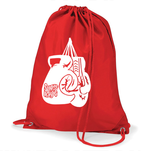 Sugar Rays Glove Bag – With Boxing Glove – Red/White