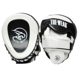Tuf Wear Eagle Gel Curved Hook & Jab Pad – White/Black