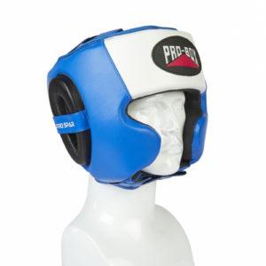 Pro-Box Pro-Spar Cheek Headguard – Blue/White