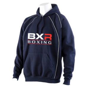 BXR Club Boxing Hoody – Navy/White