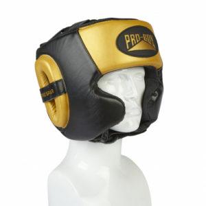 Pro-Box Pro-Spar Cheek Headguard – Black/Gold