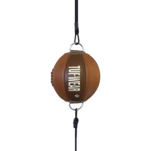 Tuf-Wear Classic Brown Leather Floor to Ceiling Ball – Reaction/Small