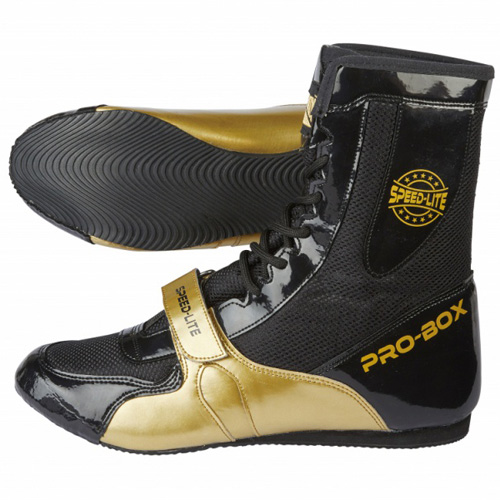 Pro-Box Speed-Lite Adult Boxing Boots – Black/Gold