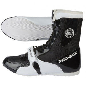 Pro-Box Speed-Lite Adult Boxing Boots – Black/White