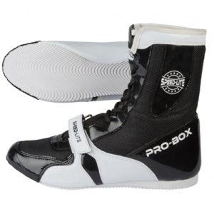 Pro-Box Speed-Lite Junior/Kids Boxing Boots - Black/White