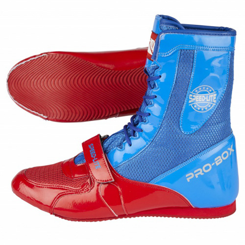Pro-Box Speed-Lite Adult Boxing Boots – Blue/Red