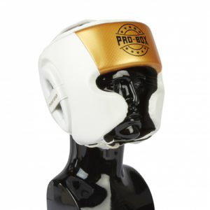 Pro-Box Champ Spar Headguard – White/Gold