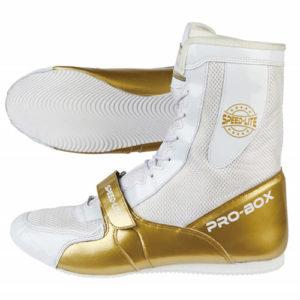 Pro-Box Speed-Lite Junior/Kids Boxing Boots - White/Gold