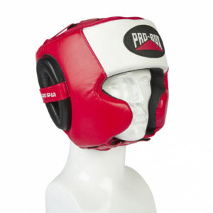 Pro-Box Pro-Spar Cheek Headguard – Red/White