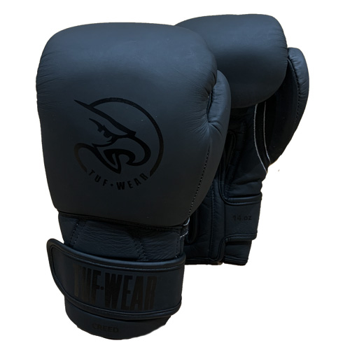 Tuf-Wear Creed Matte Leather Training Glove - Black/Black