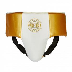 Pro-Box Champ Spar Abdo Guard – White/Gold