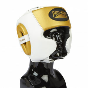 Pro-Box Pro-Spar Cheek Headguard – White/Gold