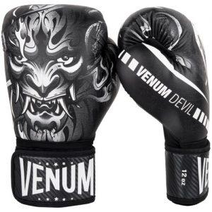 Venum Devil Boxing Gloves – White/Black