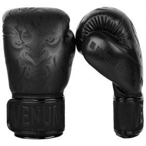Venum Devil Boxing Gloves – Black/Black