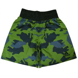 "Adidas ""Camo"" Satin Boxing Shorts – Green/Blue"