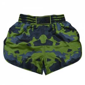 "Adidas ""Camo"" Thai Boxing Shorts – Green/Blue"