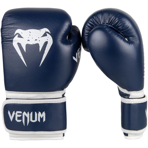 Venum Signature Boxing Gloves – Navy/White