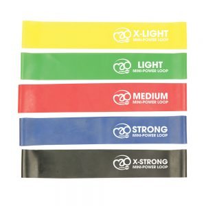 Fitness-Mad Mini Power Loop/Resistance Band – Set of 5 Strengths