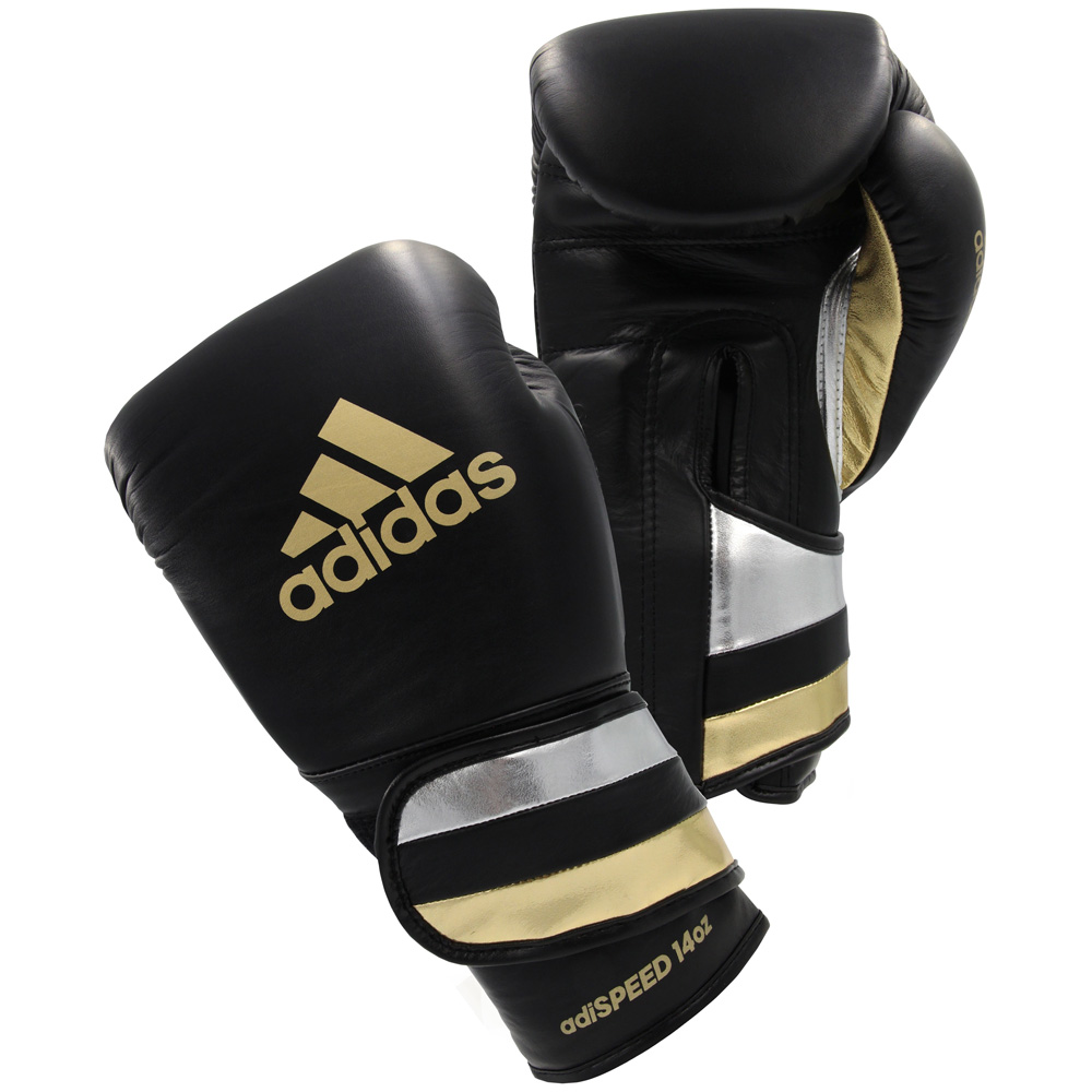 Adidas adiSpeed Leather Boxing Gloves Sparring Soft Lining High Quality
