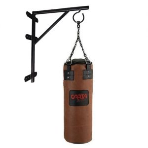 Carta Sports Heavy Duty 4ft Punch Bag + Bracket & Chains – Authentic Brown