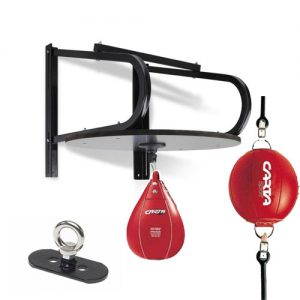 Carta Sports Leather Floor To Ceiling & Speedball Set – Red