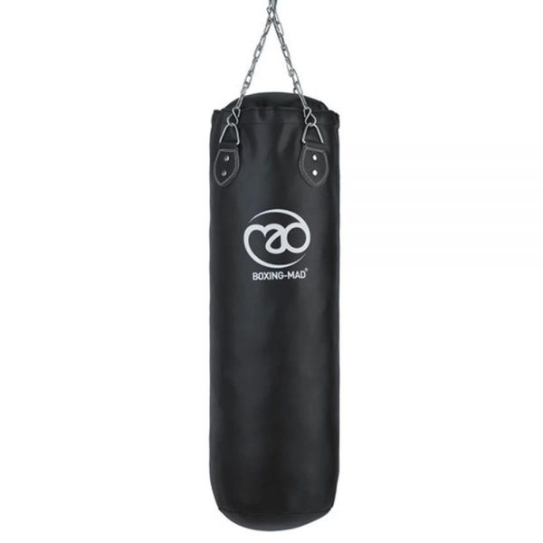 Fitness Mad Heavy Duty PVC 3ft Punch Bag – Black [Including Chains]