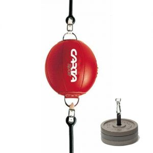 Carta Sports Leather Floor to Ceiling Ball with Anchor Plate – Red