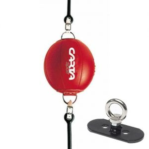 Carta Sports Leather Floor to Ceiling Ball with Floor Hook – Red