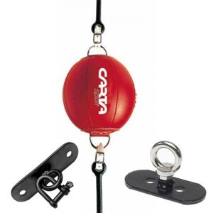 Carta Sports Leather Floor to Ceiling Ball with Floor & Ceiling Hooks – Red