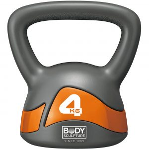 Body Sculpture 4kg Kettle Bell – Grey/Orange