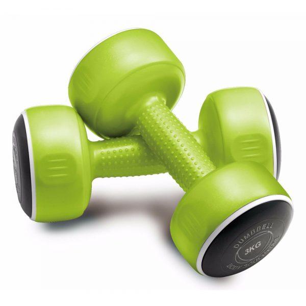 Body Sculpture Smart Dumbbell Set – Pair of 3kg / Green