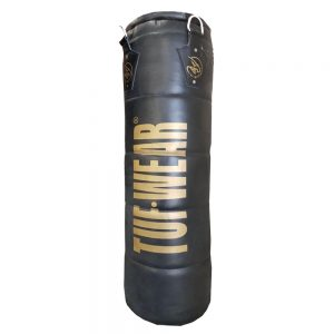 Tuf Wear Leather Quilted Punchbag 4FT – Black/Gold