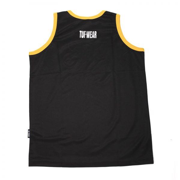 Tuf-Wear Club Junior/Kids Boxing Short and Vest Set – Black/Gold