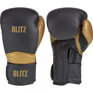 Blitz Centurion Boxing Gloves – Black/Gold