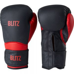 Blitz Centurion Boxing Gloves – Black/Red