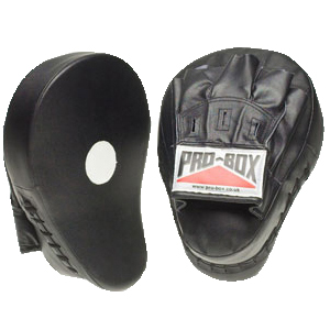 Pro-Box Punch Paddles & Curved Hook and Jab Pads – Black