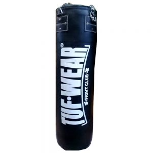 Tuf-Wear 4FT Heavy Duty Synthetic Leather Punchbag with Chains – Black
