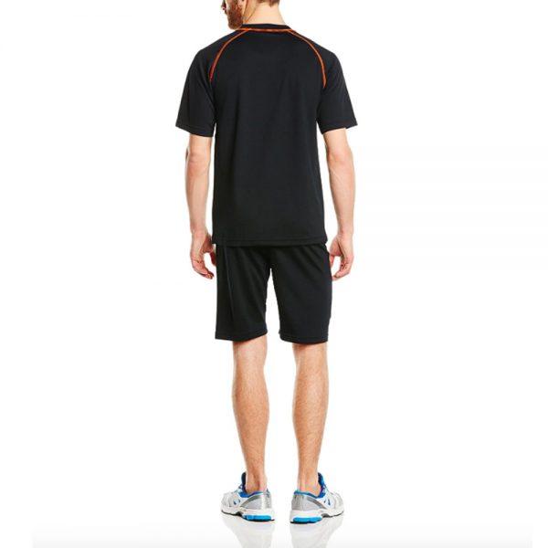 Swelter Sweat Suit Base Layer Short and T-Shirt Set – Black/Orange