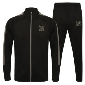 Sugar Ray's Junior Slim Fit Knitted Tracksuit – Black/Grey